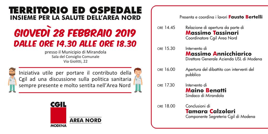 Iniziativa sulla sanità area nord di Modena (28/2/2019)
