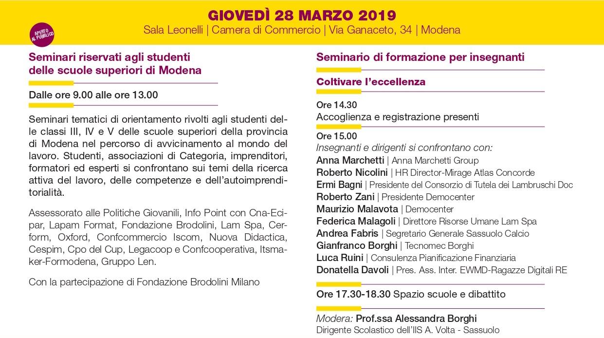 Ricomincio da me - Modena, 28 marzo 2019 - Camera di Commercio