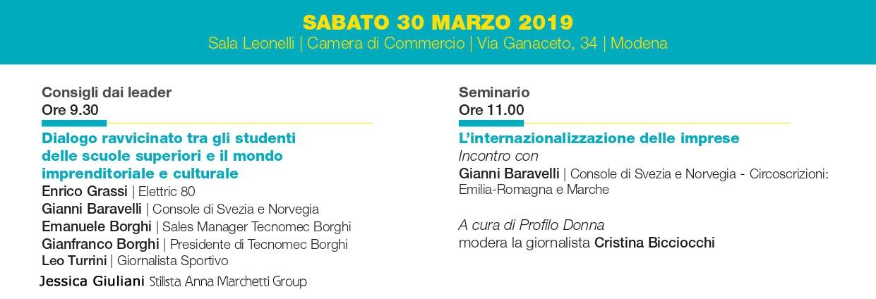 Ricomincio da me - Modena, 30 marzo 2019 - Camera di Commercio