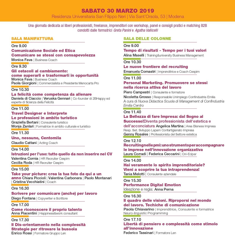Ricomincio da me - Modena, 30 marzo 2019 - San Filippo Neri
