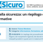 PuntoSicuro - Formazione sicurezza: riepilogo accordi e normative