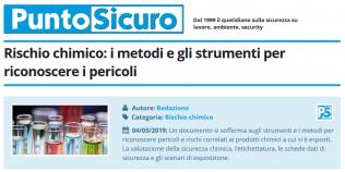 PuntoSicuro - Rischio chimico_ metodi e strumenti per riconoscere i pericoli