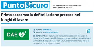 PuntoSicuro - Primo soccorso: la defibrillazione precoce nei luoghi di lavoro