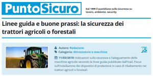 PuntoSicuro - Linee guida e buone prassi per la sicurezza dei trattori agricoli o forestali