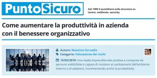 PuntoSicuro - Come aumentare la produttività in azienda con il benessere organizzativo