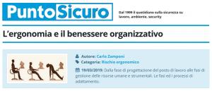 PuntoSicuro - L'ergonomia e il benessere organizzativo