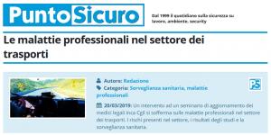 PuntoSicuro - Le malattie professionali nel settore dei trasporti