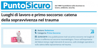 PuntoSicuro - Luoghi di lavoro e primo soccorso: catena della sopravvivenza nel trauma