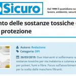 PuntoSicuro - L'assorbimento delle sostanze tossiche e i dispositivi di protezione