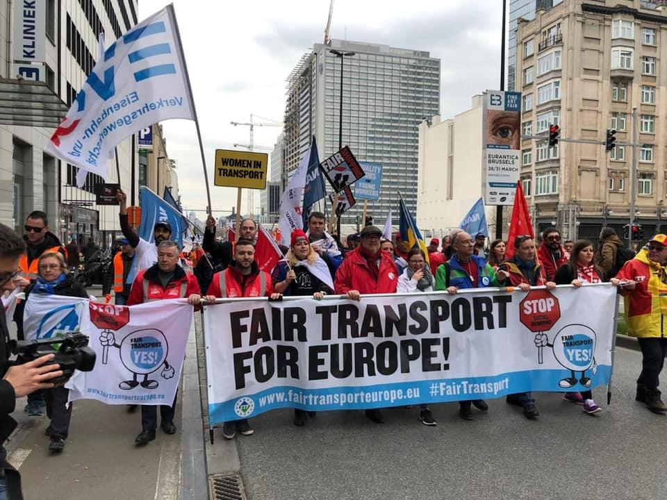 Trasporto equo Europa - Manifestazione 27/3/2019 - Bruxelles