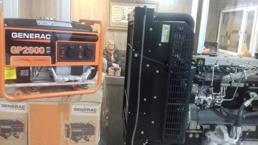 Generatore che verrà montato nel poliambulatorio campo profughi. Stiamo facendo la contrattazione qui dal çoncessionario ad Erbil. Il prezzo è intorno ai 18000 dollari,17.3.19