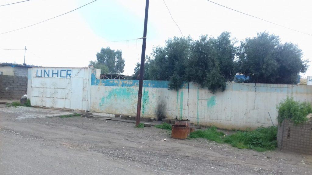 Al centro del campo profughi di Mahmura c'è la formale sede Onu UNHCR. Però chiusa 7 giorni su 7, 18.3.19