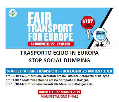 trasporto equo Europa, Bologna 25.3.19