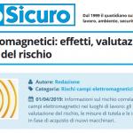 PuntoSicuro - Campi elettromagnetici: effetti, valutazione e prevenzione del rischio