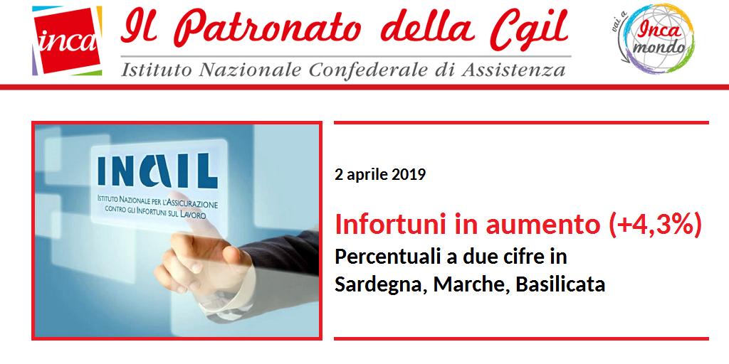 Febbraio 2019 - Infortuni in aumento (+4,3%)
