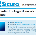 PuntoSicuro - Il comparto sanitario e la gestione psicologica delle aggressioni