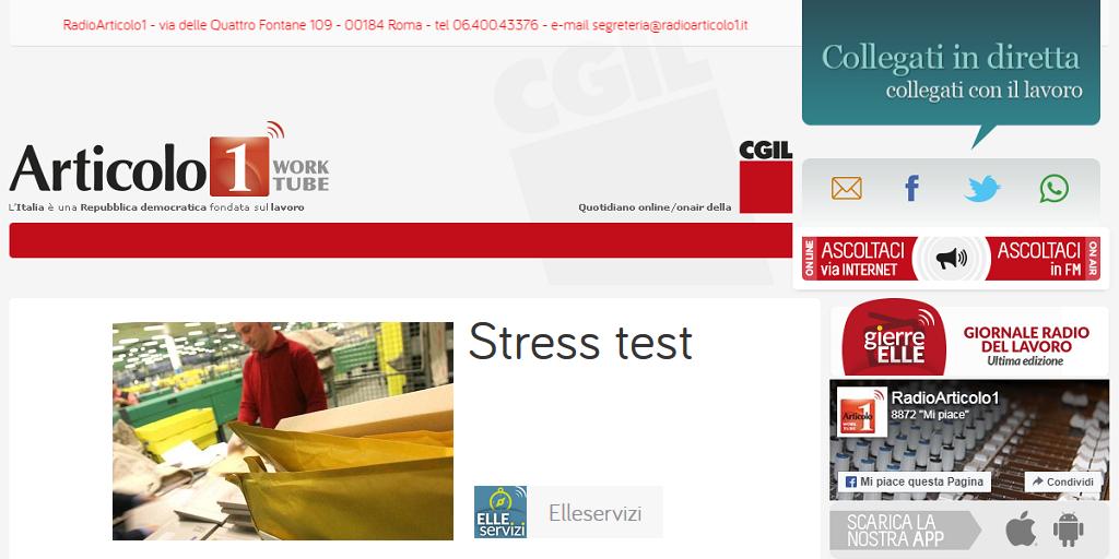 Poste Italiane - Monitoraggio stress e malattia professionale