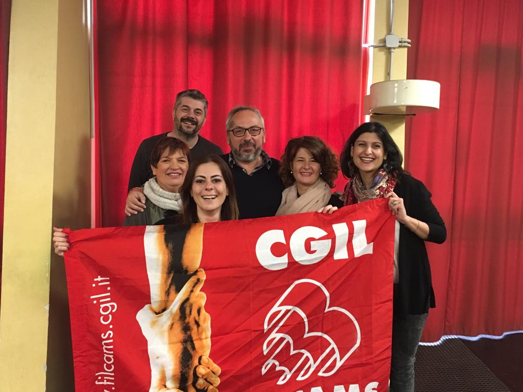 Segreteria Filcams Cgil Modena con Segr.Gen Filcams Emilia-Romagna - 17/4/2019