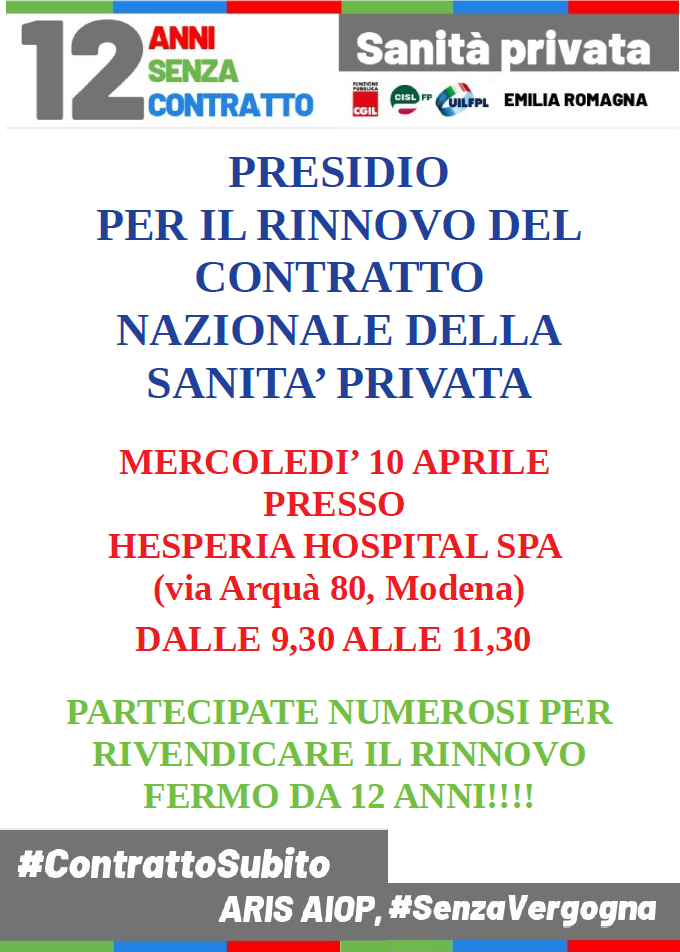 VOL MO sanità privata presidio 10.4.19