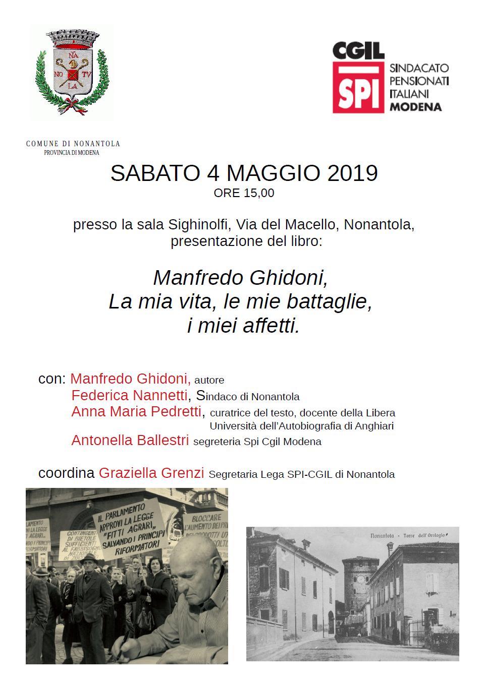 locandina 4.5.19 Manfredo Ghidoni