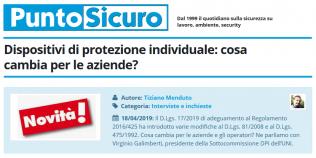 PuntoSicuro - Dispositivi di protezione individuale: cosa cambia per le aziende?