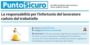 PuntoSicuro - La responsabilità per l'infortunio del lavoratore caduto dal trabattello