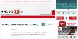 Radioarticolo1 - In aumento i tumori professionali, uno studio francese