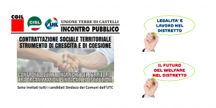 iniziative pubbliche candidati sindaci comuni zona di Vignola - Unione terre di Castelli - 2019