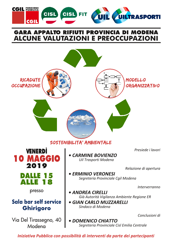 Gara appalto rifiuti Provincia di Modena - 2019