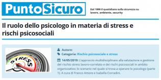 PuntoSicuro - Il ruolo dello psicologo in materia di stress e rischi psicosociali