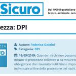 PuntoSicuro - Pillole di sicurezza: DPI