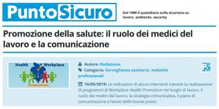PuntoSicuro - Promozione della salute: il ruolo dei medici del lavoro e la comunicazione