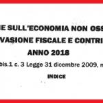relazione Mef evasione contributiva e fiscale 2018