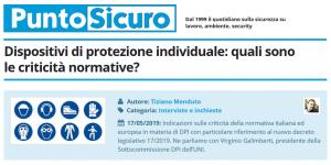 PuntoSicuro - Dispositivi di protezione individuale: quali sono le criticità normative