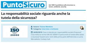PuntoSicuro - La responsabilità sociale riguarda anche la tutela della sicurezza?