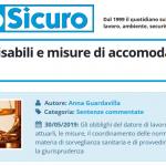 PuntoSicuro - Lavoratori disabili e misure di accomodamento ragionevole