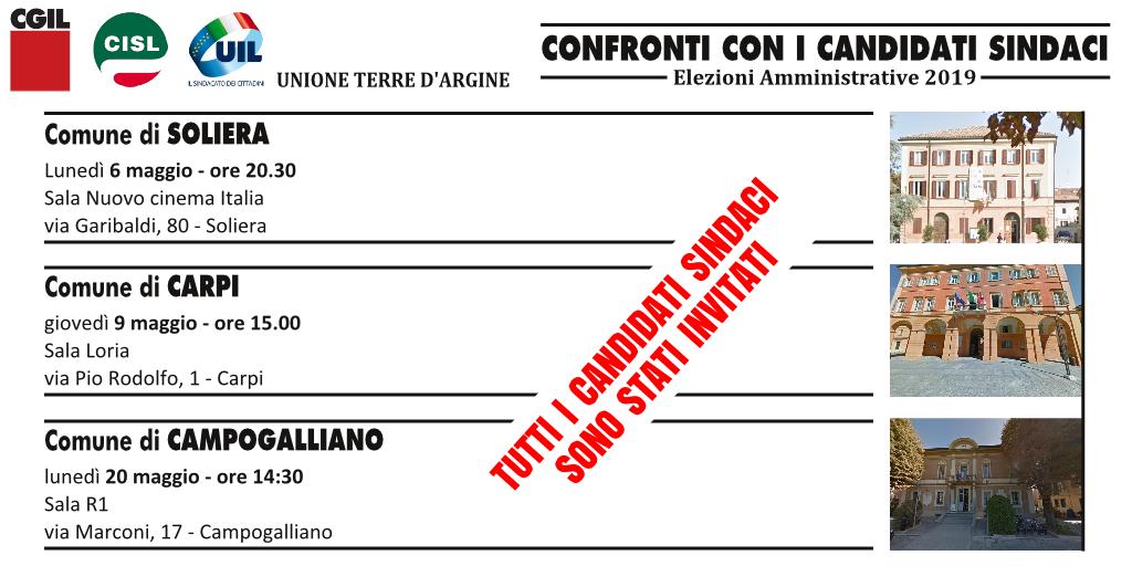 incontri candidati sindacato Campogalliano Carpi Soliera