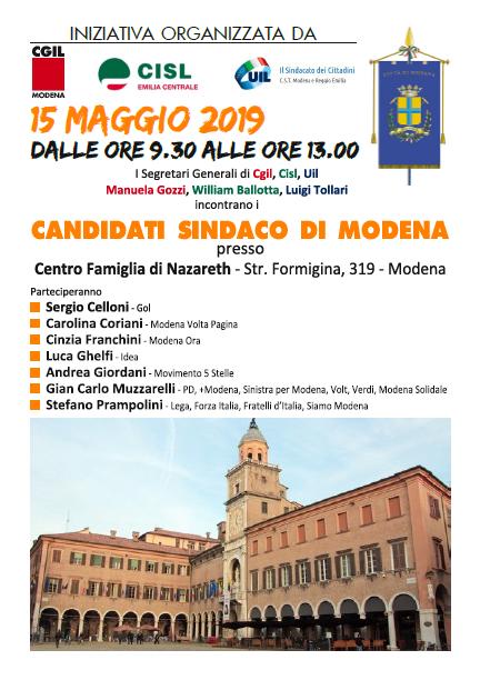 candidati sindaco Modena 15.5.19