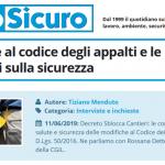 PuntoSicuro - Le modifiche al codice degli appalti e le ripercussioni sulla sicurezza