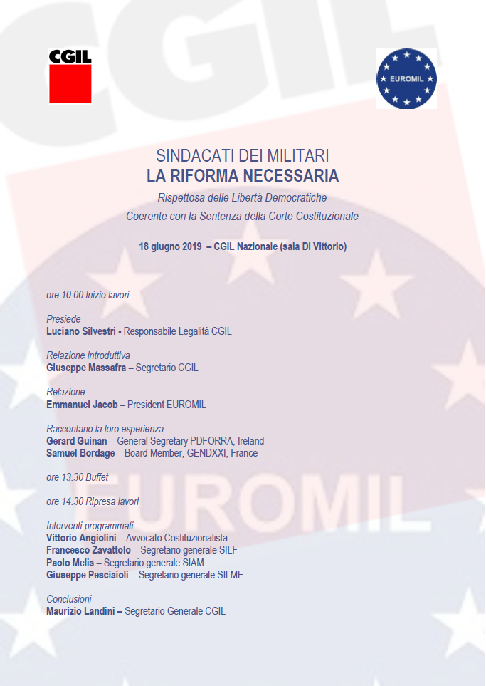 sindacati dei militari, la riforma necessaria 18.6.19