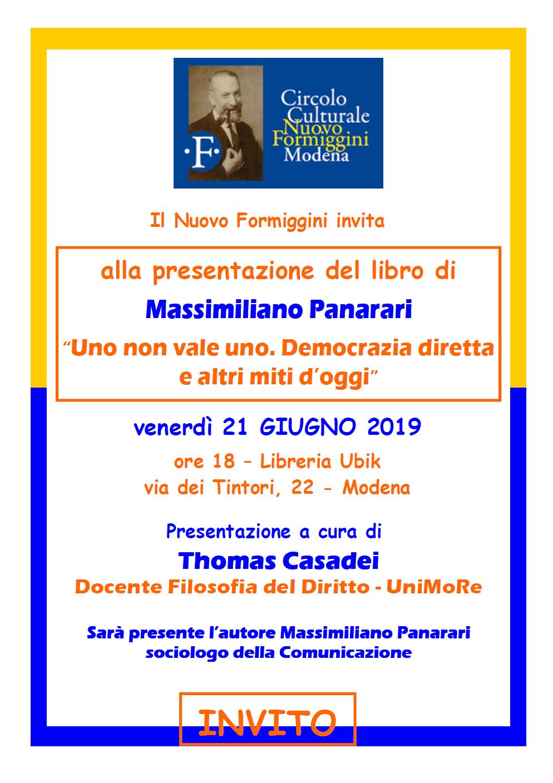 presentazione libro Panarari, circolo Formiggini
