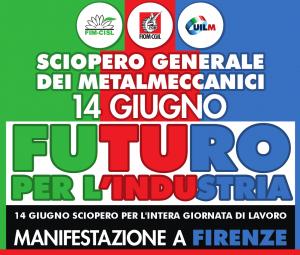 futuro per l'industria sciopero metalmeccanici 14.6.19