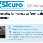 PuntoSicuro - Cassazione Penale: la mancata formazione è un reato permanente