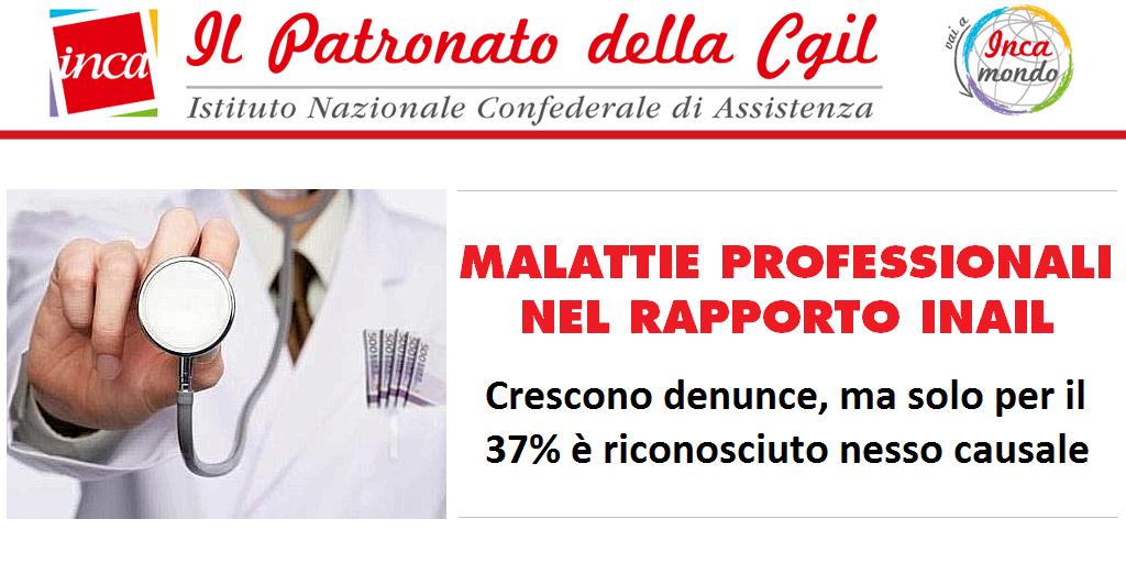 Patronato Inca Cgil nazionale - Malattie professionali nel rapporto Inail