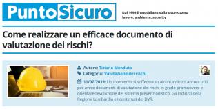 PuntoSicuro - Come realizzare un efficace documento di valutazione dei rischi?