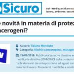 PuntoSicuro - Quali sono le novità in materia di protezione dai rischi cancerogeni?