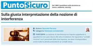 PuntoSicuro - Sulla giusta interpretazione della nozione di interferenza