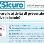 PuntoSicuro - Come migliorare le attività di prevenzione realizzate a livello locale?