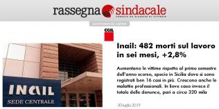 Rassegna Sindacale - Inail: 482 morti sul lavoro in sei mesi, +2,8%