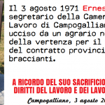 Anniversario assassino Ernesto Cattani